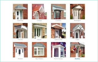 Canopies for bow windows and over door canopies. Highly durable low maintenance.  sc 1 st  Discounted Plastics & Discounted Plastics Limited - Doors